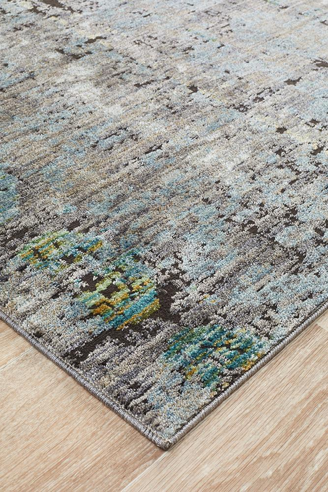 Jezebel Fluid Nights Modern Blue Rug - Block & Crate