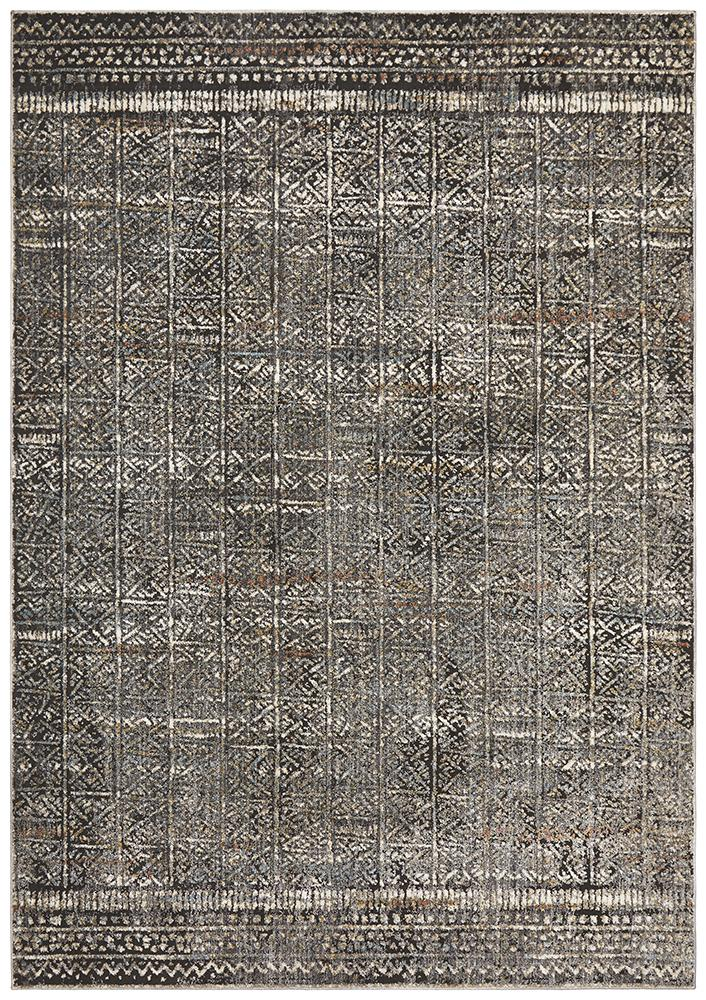 Jezebel Fluid Evening Modern Grey Rug - Block & Crate