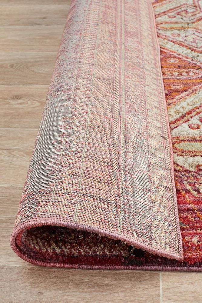 Jezebel Fluid Sunrise Modern Red Rug - Block & Crate