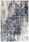 Kendra Casper Distressed Modern Rug Blue Grey White - Block & Crate