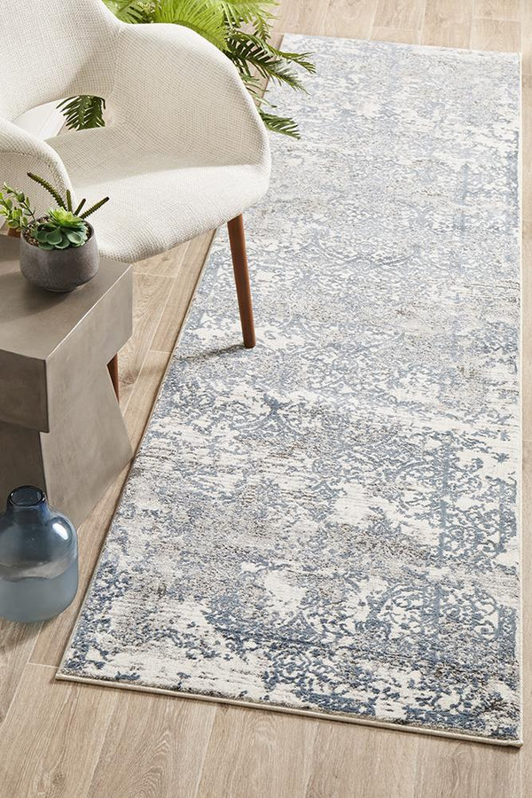 Kendra Yasmin Distressed Transitional Runner Rug - Block & Crate