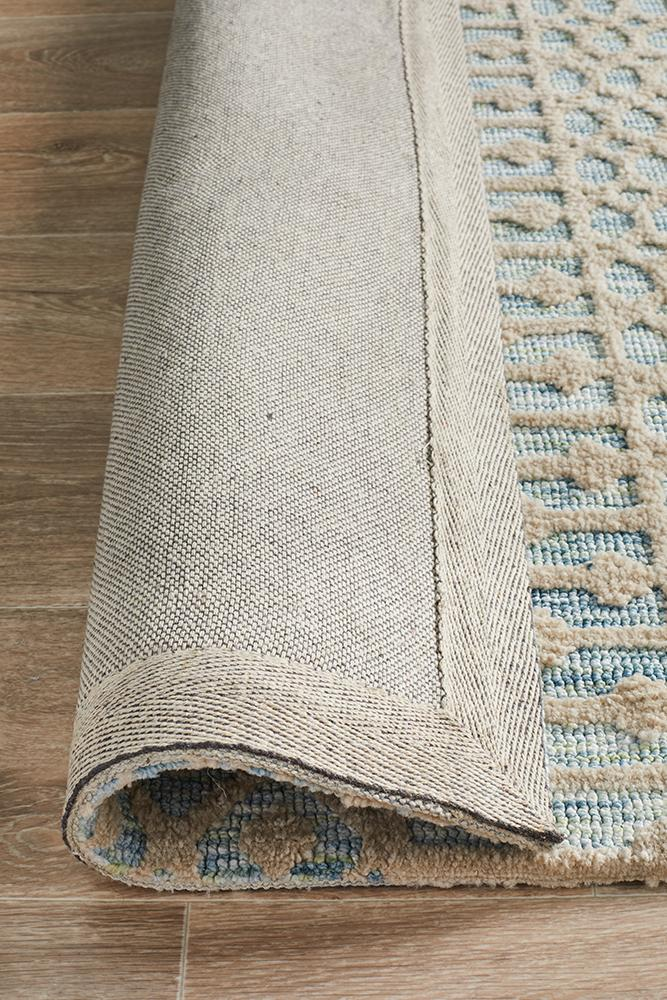 Levi Brook Blue Green Rug - Block & Crate