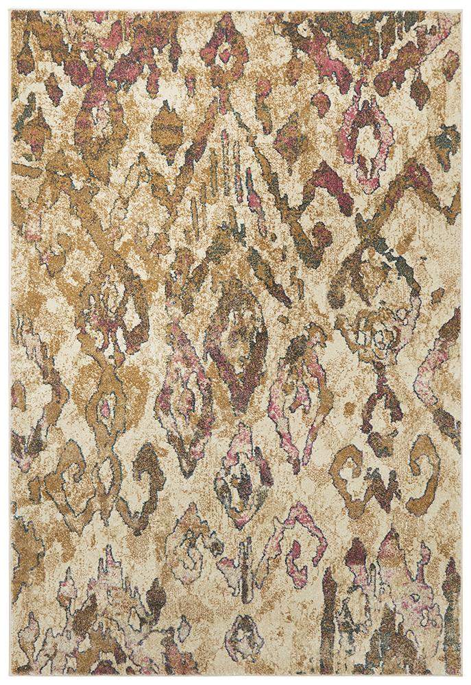 Medina Kaitlin Soft Pink and Beige Rug - Block & Crate