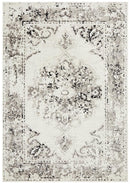 Alexa Transitional Rug White Grey Black