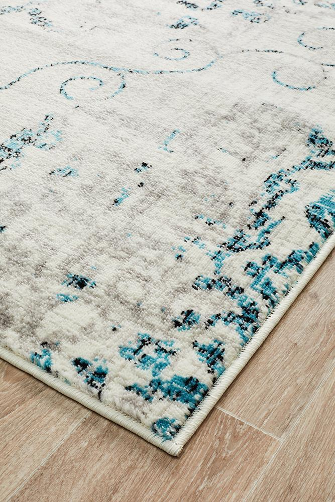 Giselle Transitional Rug Blue Grey - Block & Crate