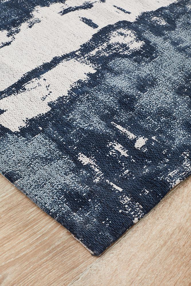 Magnolia 11 Denim Runner Rug - Block & Crate