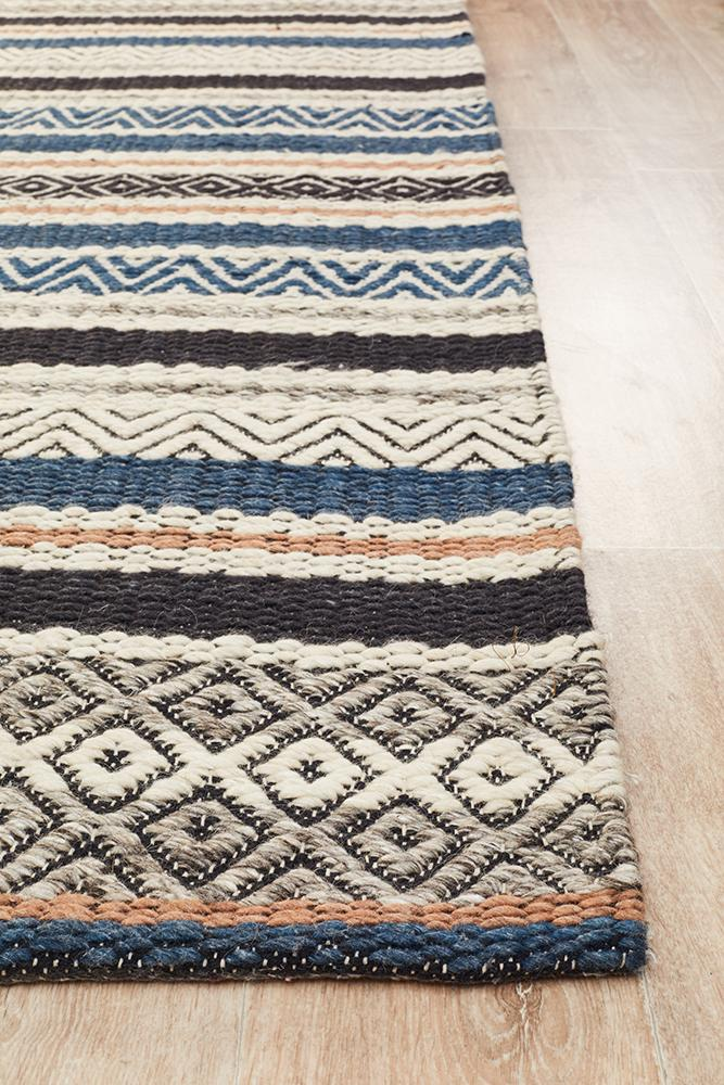 Miller Rhythm Swing Denim Rug - Block & Crate
