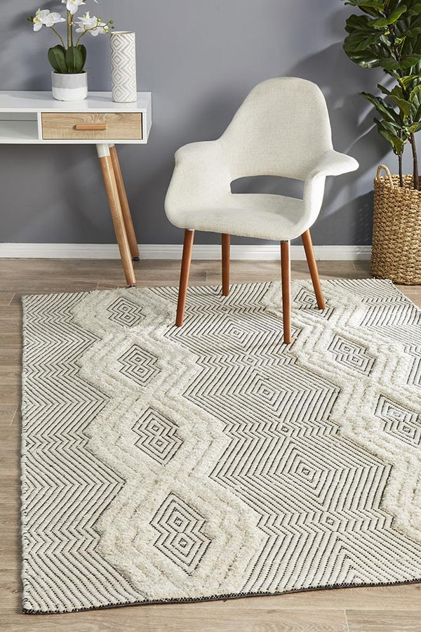 Miller Rhythm Chime Bone Rug - Block & Crate