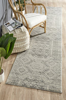 Mirage Zelda Silver Grey Runner Rug - Block & Crate