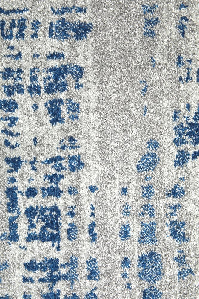 Mirage Ashley Abstract Modern Blue Grey Rug - Block & Crate