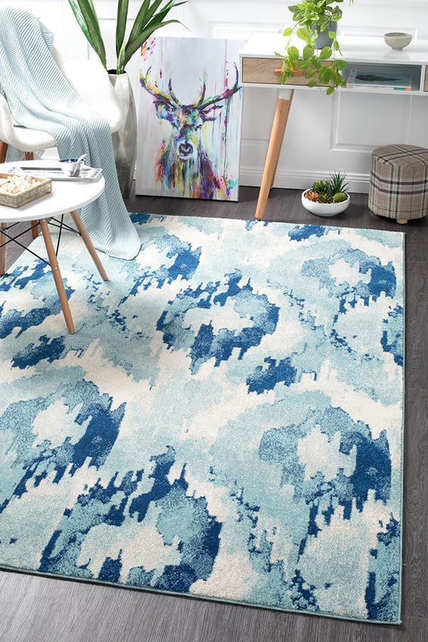 Mirage Lesley Whimsical Blue Rug - Block & Crate