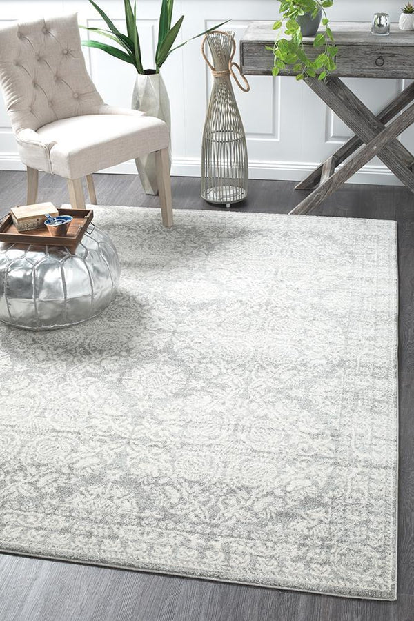 Mirage Gwyneth Stunning Transitional Silver Rug - Block & Crate