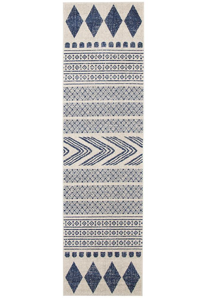 Mirage Adani  Modern Tribal Design Navy Rug - Block & Crate