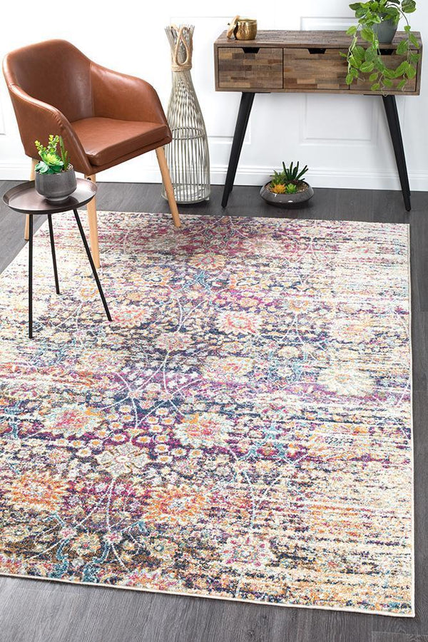 Mirage Zolan Transitional Multi Rug - Block & Crate