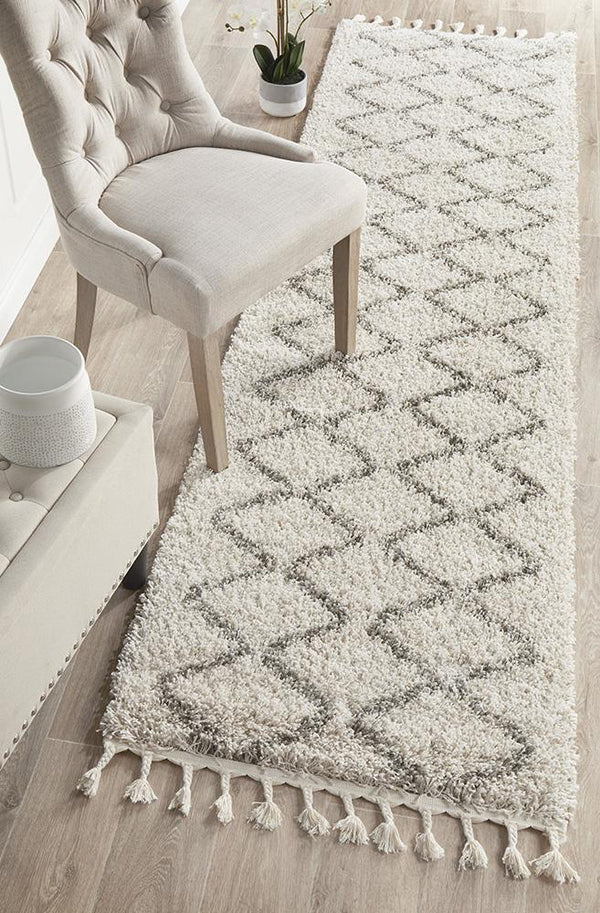 Saffron 11 Natural Runner Rug - Block & Crate