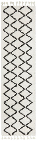 Saffron 11 White Runner Rug - Block & Crate