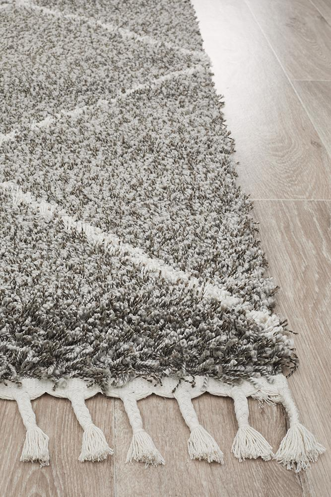 Saffron 22 Grey Rug - Block & Crate