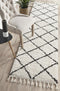 Saffron 22 White Runner Rug - Block & Crate