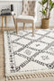 Saffron 33 White Rug - Block & Crate