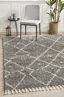 Saffron 44 Grey Rug - Block & Crate