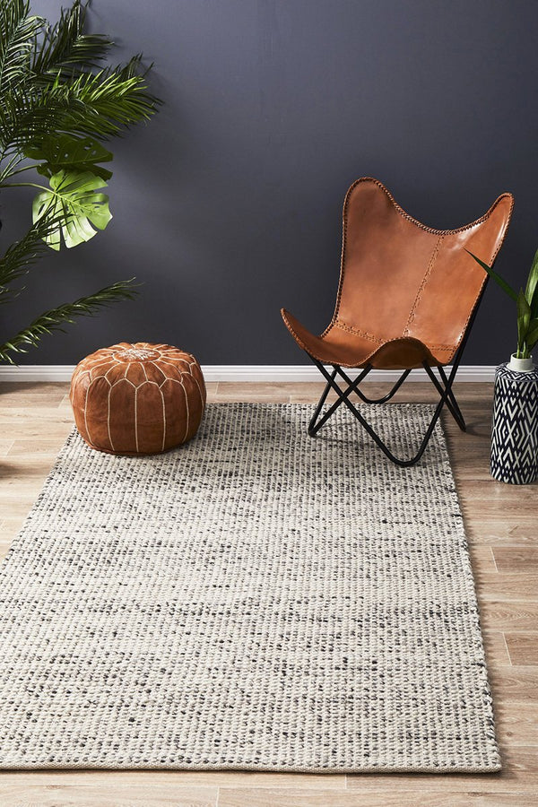 Skandinavian 300 Grey Rug - Block & Crate