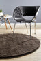 Soho Round Shag Rug Dark Brown - Block & Crate