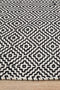 Spirit Carter Textured Modern Rug Black White - Block & Crate