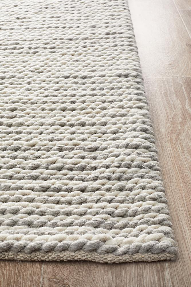 Studio Carina Felted Wool Woven Rug - Block & Crate