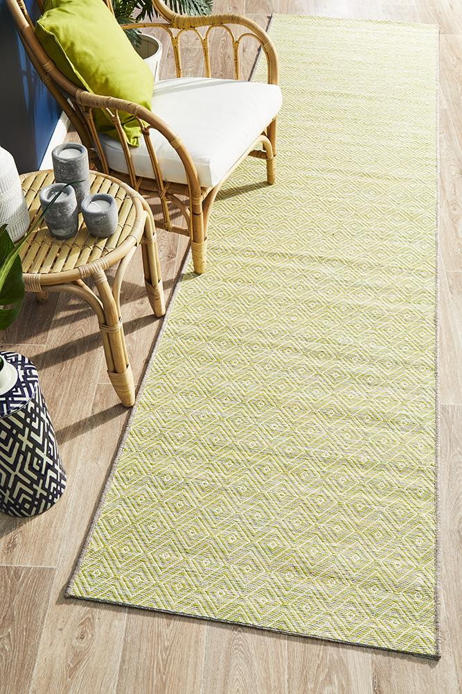Rug Culture Terrace 5500 Green Runner Rug