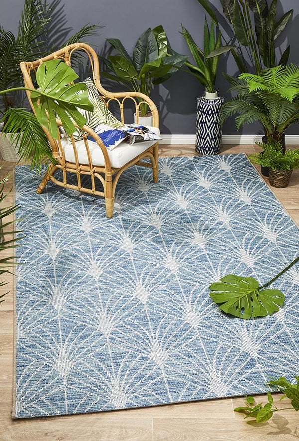 Rug Culture Terrace 5502 Blue - Block & Crate