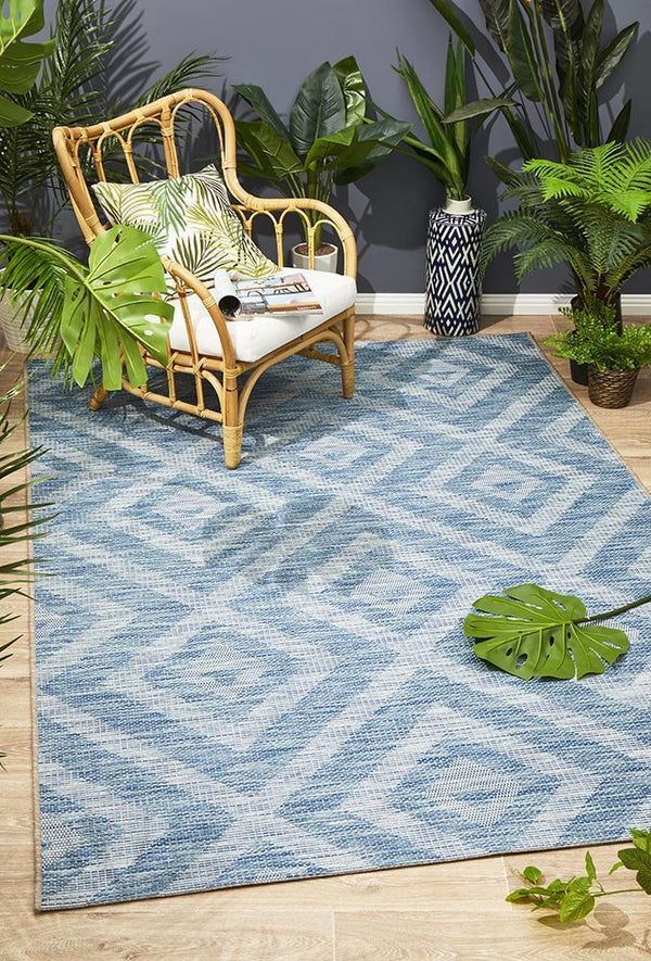 Rug Culture Terrace 5504 Blue - Block & Crate