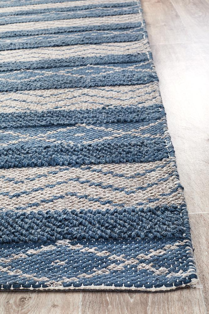 Urban Collection 7501 Teal Rug - Block & Crate