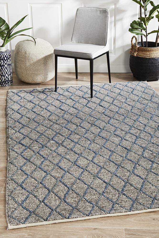 Urban Collection 7502 Blue Rug - Block & Crate