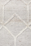 Visions Winter Grey Brush Modern Rug - Block & Crate