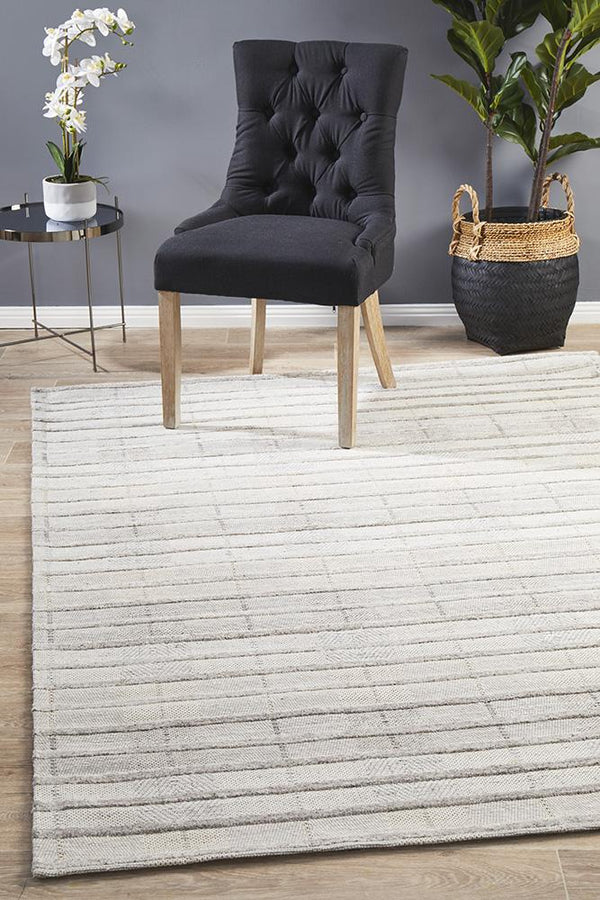 Visions Winter Majestic Dove Modern Rug - Block & Crate
