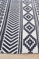 Zulu Totemic Rally White Rug