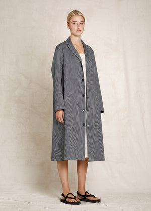 Striped Workers Coat