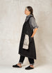 black denim pinafore apron side