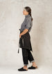 black raven short heavy linen apron side view