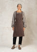 Bark brown workers apron front