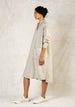 natural color long linen dress side view flax