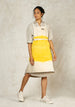 oat and Amanda yellow ombre workers apron front