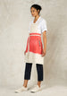 oat and geranium ombre workers apron side