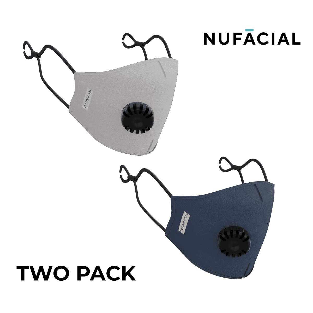 Gray and Navy - NuMask by NuFacial