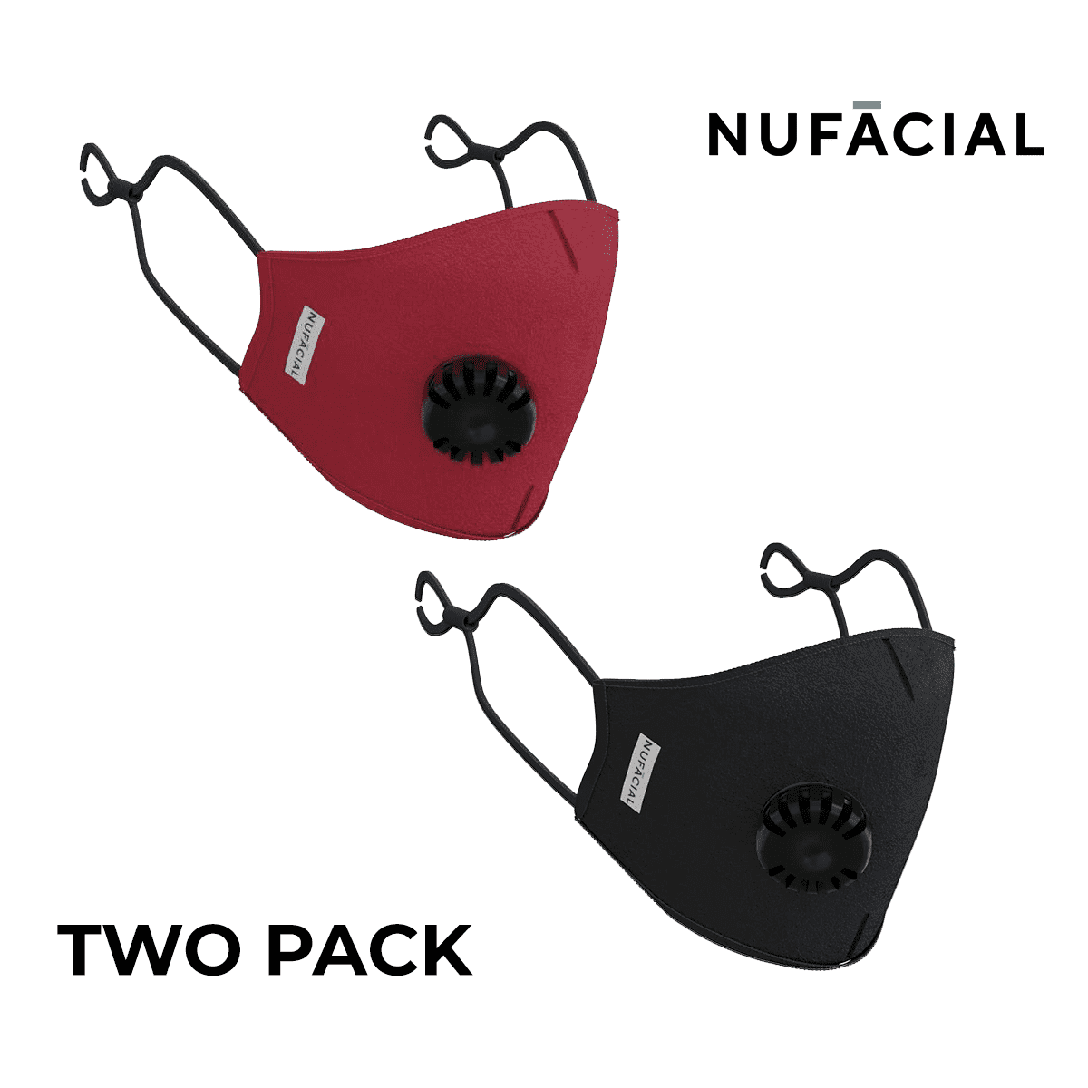 Maroon and Black - NuMask by NuFacial