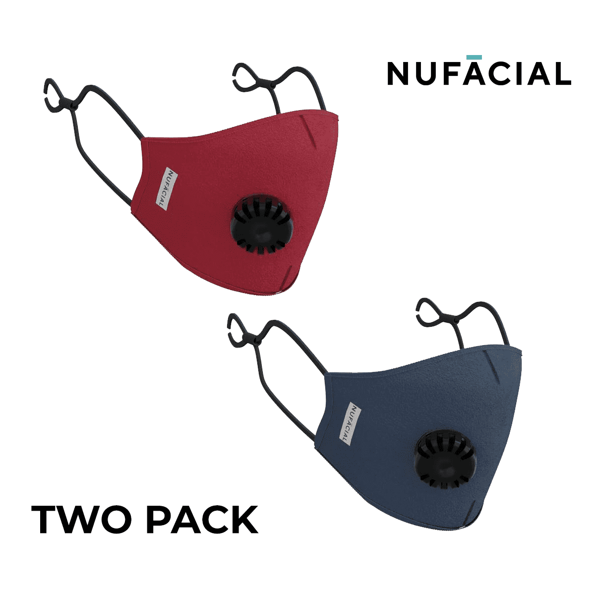 Maroon and Navy - NuMask by NuFacial