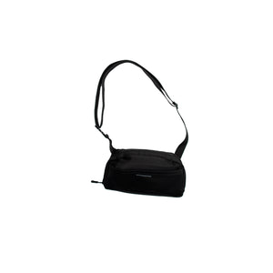 Black Satin Shoulder Bag