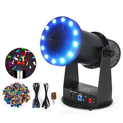 onfetti Launcher Machine Cannon with LED Light Effects and Wireless DMX Control for Party