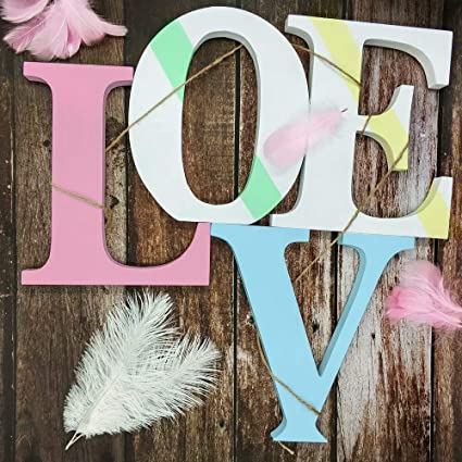 Colorful wooden letters 'LOVE'