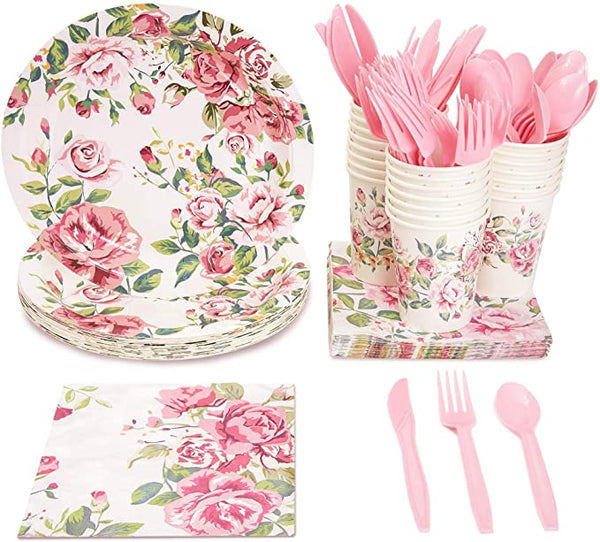 cutlery with floral designs